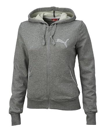Puma sweat Jacket Veste à capuche Logo de Terry Medium Gris