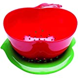 Zak Designs Apple 1742-a854 Colander with Saucer Red/Green