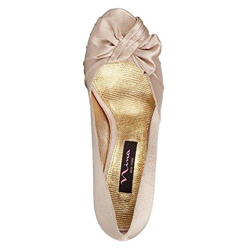 Nina Bridal  Forbes Azul Special Occasion Neob FORBES01, Sandales femmes Gold Royal Satin