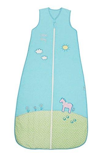 Schlummersack Ganzjahres-Variante Mädchenschlafsack 2.5 Tog - Pony - 150 cm/6-10 Jahre - Jersey Gefütterte Hose