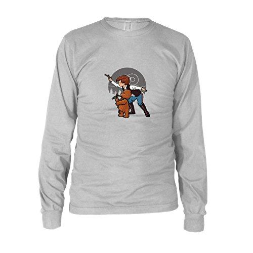 SW: Poo Solo - Herren Langarm T-Shirt, Größe: XXL, Farbe: weiß