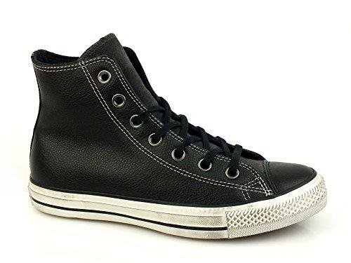 Sneakers converse ct as hi distressed pelle nero bianco, nuova collezione autunno inverno 2017/2018
