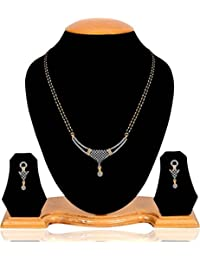 Navya Collection American Diamond Mangalsutra Set For Women