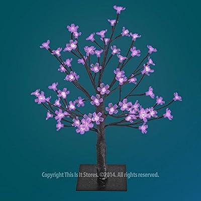 The Benross Christmas Workshop 45 cm 48 LED Blossom Tree, Purple by Benross Group