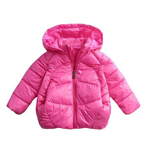 Giacche piumino con cappuccio addensare del cappotto parka zipper invernale per bambine bambino
