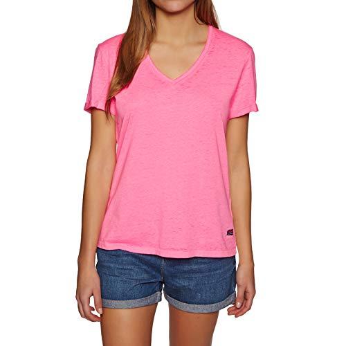 Superdry Burnout V Tee - Sleeve V-neck Burnout T-shirt