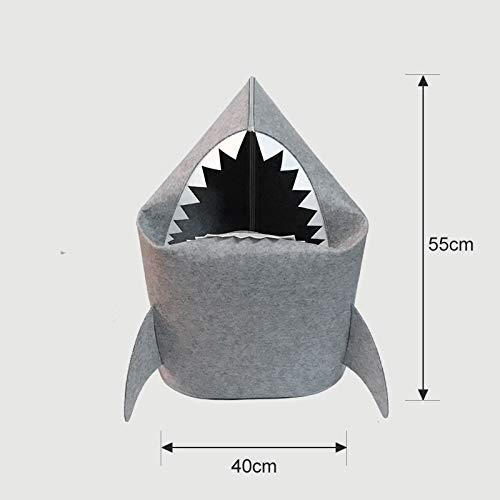 Zxxfr shark vestiti sporchi cesto camera da letto abbigliamento domestico canna giocattolo,luce squalo grigio