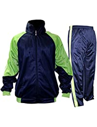 Tiish Men s Solid Track Suit 100% Polyster - Blue   Green Color -  Sportswear for Gym 59b506d15838b