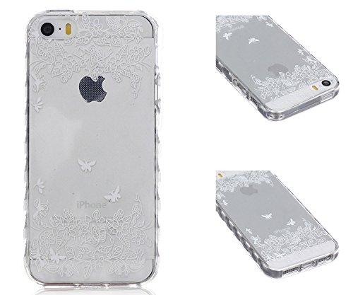 ZeWoo TPU Schutzhülle - BF033 / Don't touch my phone(Bär) - für Apple iPhone 5 5G 5S Silikon Hülle Case Cover BF049 / Fliegen in der Natur