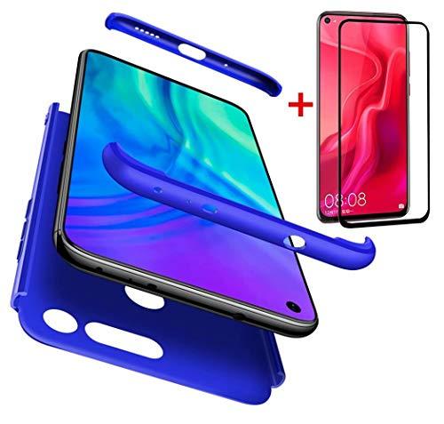 AILZH Compatibles para Funda Huawei Honor V20+[Cristal Templado] 360 Grados Vidrio Templado...