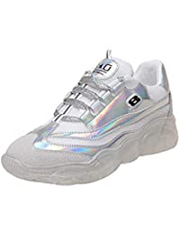 Zapatillas para Mujer,ZARLLE Zapatillas Deportivas Plataforma Cuña para Mujer Zapatos Wedge Sneakers Mujer,