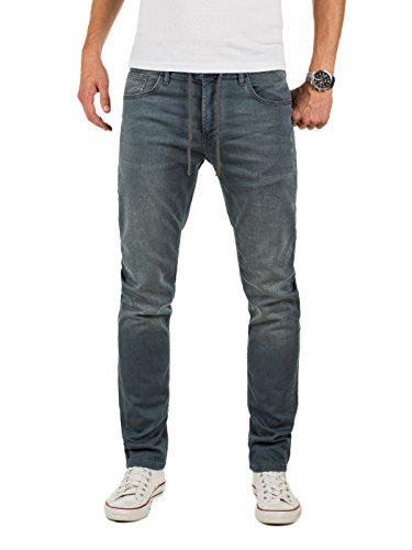 Yazubi Herren Regular Fit Jeans männer Sweathose in Jeansoptik, Sweat Denim Hose, Bequem, 5-Pocket-Style, Grau (Turbulence Grey 194215), W36/L34