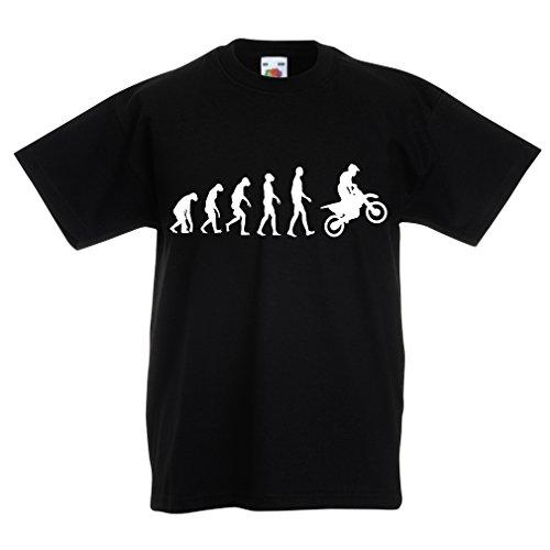 lepni.me Camiseta Niños/Niñas evolución del Motocross, Camisa de la Motocicleta, Desgaste de...