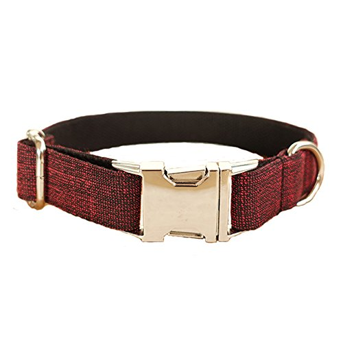 PENIVO Einstellbare Nylon Haustier Hundehalsband Leine Set Red Suit Medium Große Hunde Training Walking Halsbänder und Leinen, Matching Collar & führt separat erhältlich -