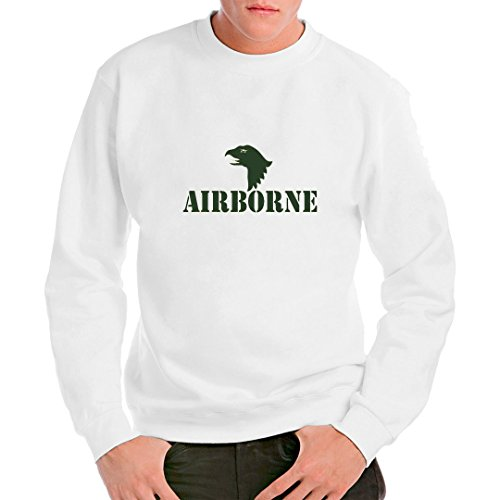 Im-Shirt Army Military Unisex Sweatshirt - Airborne Logo Grün by Weiß XXL Airborne Sweatshirt