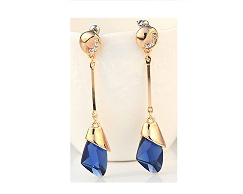 Glitz Party Blue Metal Dangle & Drop Earring For Women/Girls
