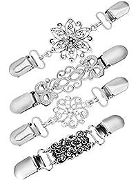 BESTOYARD Pullover Clips Vintage Pullover Kette Kreative Silber Strickjacke  Clip für Kleid Kleidung 4pcs d9d8afe209