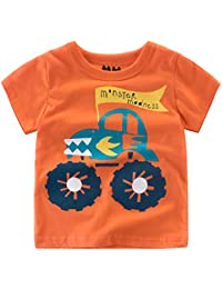 1152c3566b Oyoden Camisetas Manga Corta Niños Dibujos Animados Tops Bebé Verano  Algodón Blusa 1-8 Años
