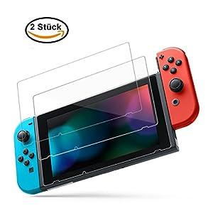 Maexus Nintendo Switch Schutzfolie, 2 Stück