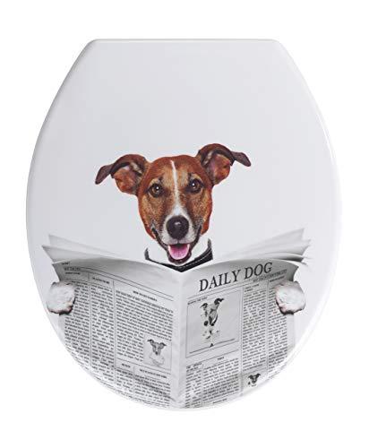Wenko 22233100Daily Dog - Tapa WC, duroplast, 37,5x 44,5x 10cm