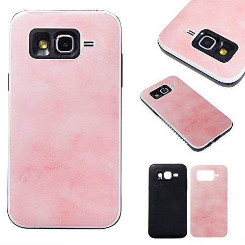 Samsung Galaxy J5 (2015) SM-J500 Case, BONROY® Samsung Galaxy J5 (2015) SM-J500 Marble pattern series Case Bumper 2 in 1 hybrid silicone TPU hard plastic Shockproof Case Resist Protection Shell for Samsung Galaxy J5 (2015) SM-J500