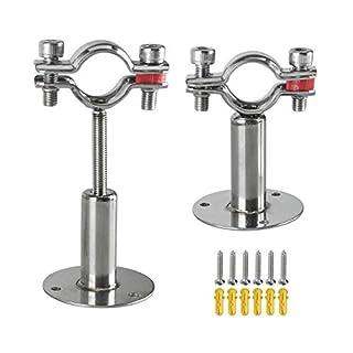 Juanshi Edelstahl Wandhalterung für Deckenmontage Rohrhalterung, einstellbare Rohrhalterung Rohrschellen für Ø 32 mm (1 Zoll) Rohrrohr, 2er-Set (Durchmesser: 25 mm (passend für 3/4 Zoll Rohr))
