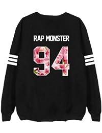 Partiss Unisex KPOP BTS Bangtan Jungen Maedchen Langarm Pullover Liebespaar Hoodie Sweatershirt