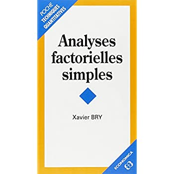 Analyses factorielles simples
