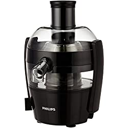 Philips Viva Collection HR1832/00 Juicer, 1.5-Litre, Ink Black