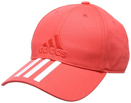 adidas Kinder 6P 3-Streifen Cotton Kappe White/Real Coral, OSFY