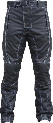 *Motorradhose Cordura Textilien Motorrad Hose Kombihose Schwarz, Herrengröße:52*