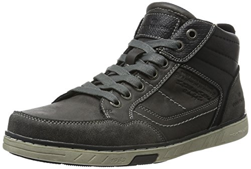 Tom Tailor 1682103, Baskets Basses Homme Gris - Grau (coal)