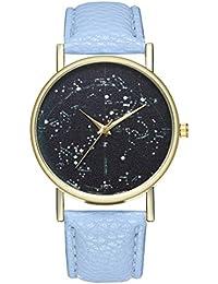 Reloj de Cuarzo para Adolescentes, Estudiantes, Planeta, Cortex, Color Azul Claro