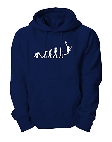 Ma2ca - Evolution Basketballer Basketball Kapuzensweatshirt-navy-s
