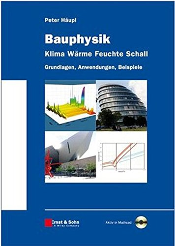 Bauphysik - Klima Wärme Feuchte Schall: Grundlagen, Anwendungen, Beispiele, Aktiv in Mathcad