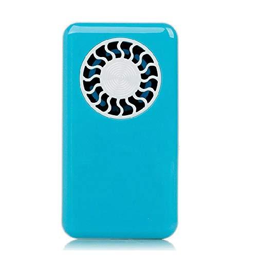 TRDyj Mini Fan Blattloser Handventilator USB wiederaufladbare ultradünne Handheld Kreative Hängende Hals Klimaanlage Fan (Farbe : Blau)