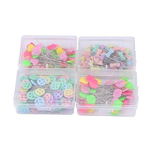 Bowknot Pins Nähzubehör, 300 Stück Flower Button Head Pins DIY Quilting Tool Nähzubehör(#2)