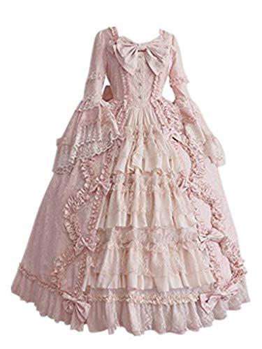 Solike Rokoko Kleid Damen, Mittelalter Viktorianisches Kleider Gothic Lolita Kostüm Halloween...