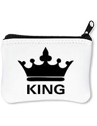 King Crown Billetera con Cremallera Monedero Caratera