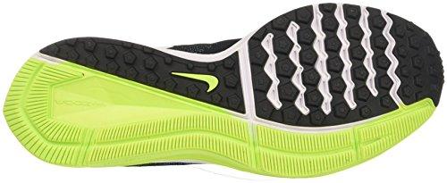 Nike Zoom Winflo 4, Scarpe da Corsa Uomo Nero (Black/White/Chlorine Blue/Volt)