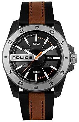 Police Watches Urban Reloj para Hombre Analógico de Cuarzo con Brazalete de Piel de Vaca R1453310002 de Police