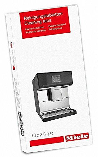 Miele Reinigungstabletten 10 Stück für Kaffeevollautomaten, garantiert Kaffeegenuss auf höchstem Niveau