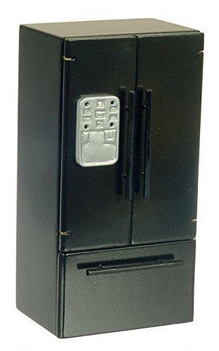 Preisvergleich Produktbild Puppenhaus Miniatur Küchenmöbel Schwarz Kühl-/Gefrierkombination 755