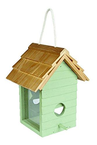 Gardman A04334 Beach Hut Seed Feeder - Green/blue 1