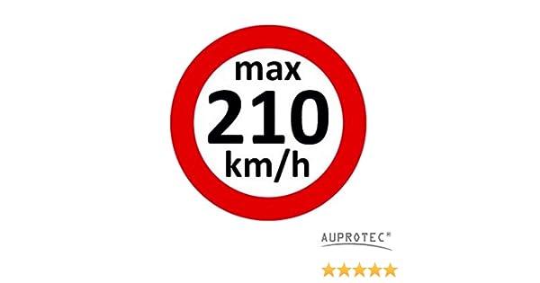 Auprotec Kundendienstaufkleber Geschwindigkeitsaufkleber Winterreifen Aufkleber 160 240 Kmh Auswahl 10 Stück 210 Kmh
