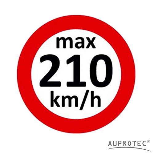 Geschwindigkeitsaufkleber Winterreifen Aufkleber 160 - 240 km/h Auswahl: (10 Stück, 210 km/h)