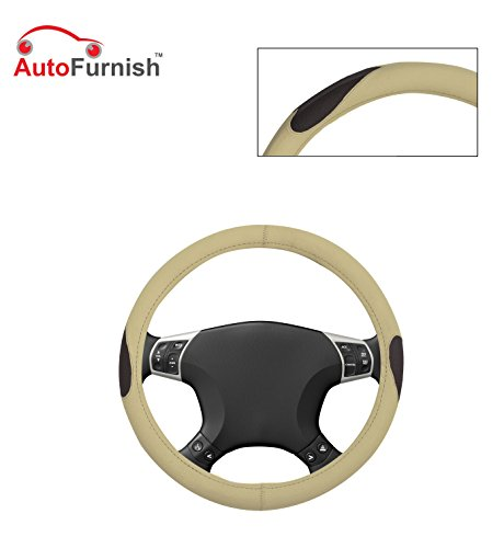 Autofurnish (AFSC-714 Russet Cream) Leatherite Car Steering Cover For Hyundai Fluidic Verna 4S  available at amazon for Rs.299
