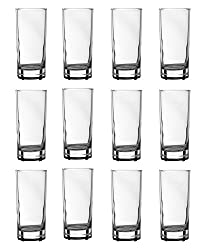 Arcoroc Glass Water Tumbler, 220 ml, Set of 12, Clear