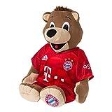 FC Bayern München Maskottchen / Kuscheltier / Plüschtier - Berni 35 cm im Trikot der neuen Saison 2017/18 FCB - puls gratis Aufkleber forever München