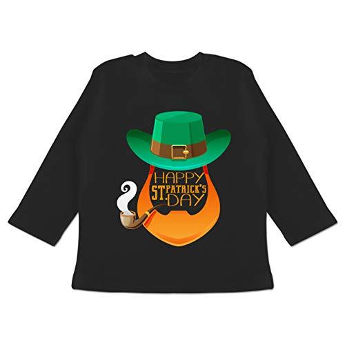 Anlässe Baby - Leprechaun Happy St. Patrick's Day - 18-24 Monate - Schwarz - BZ11 - Baby T-Shirt Langarm (Lustige 18 Monate Alte Kostüm)